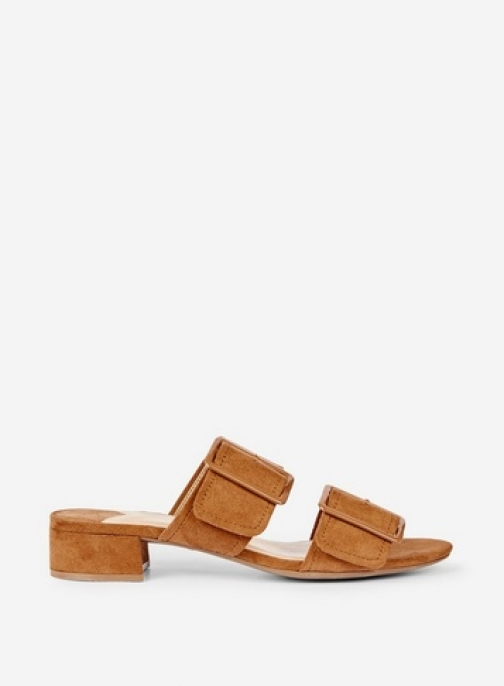 Dorothy Perkins Wide Fit Tan 'Bibi' Slider
