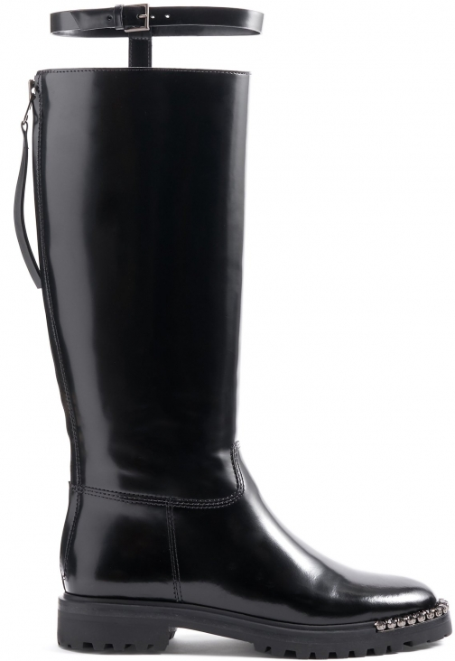 Schutz Shoes Cianna - 5 Black Leather Boot