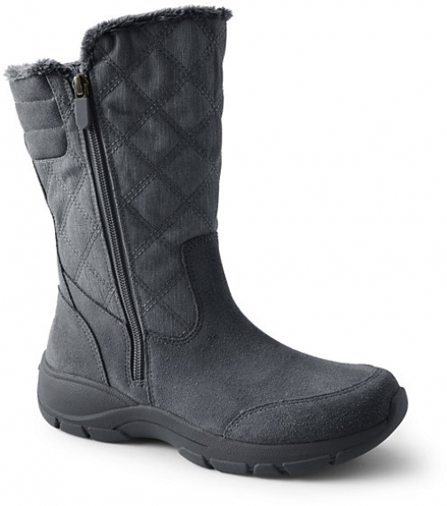 Lands' End Women's All Weather Winter - Lands' End - Gray - 6 Snow Boot