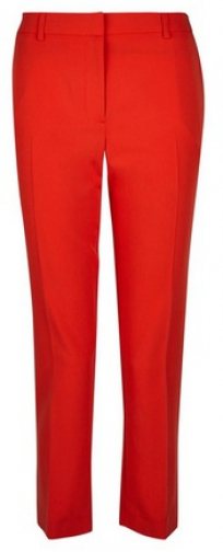 Dorothy Perkins Petite Red Naples Ankle Grazer Trousers Trouser