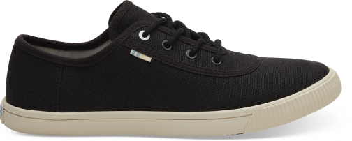 Toms Black Heritage Canvas Women's Carmel Sneakers Topanga Collection Shoes Trainer