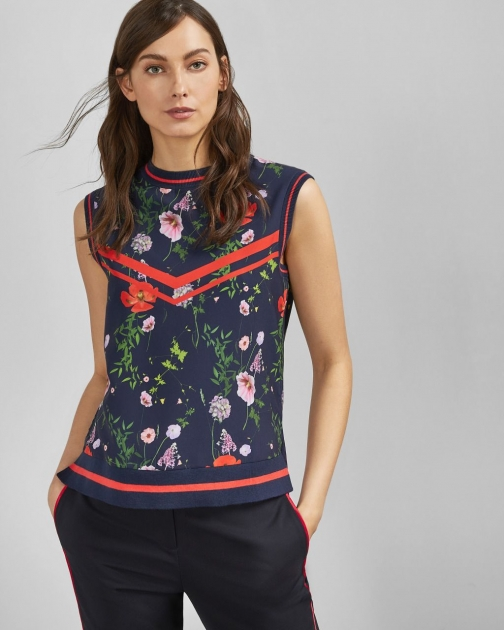 Ted Baker Hedgerow Knitted Rib Tank Tank Top