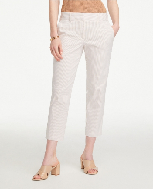 Ann Taylor Seersucker Crop Pants Trouser