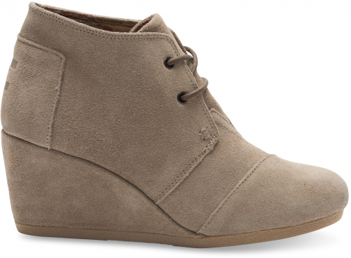 Toms Taupe Suede Women's Desert - Size UK3.5 / US5.5 Wedge