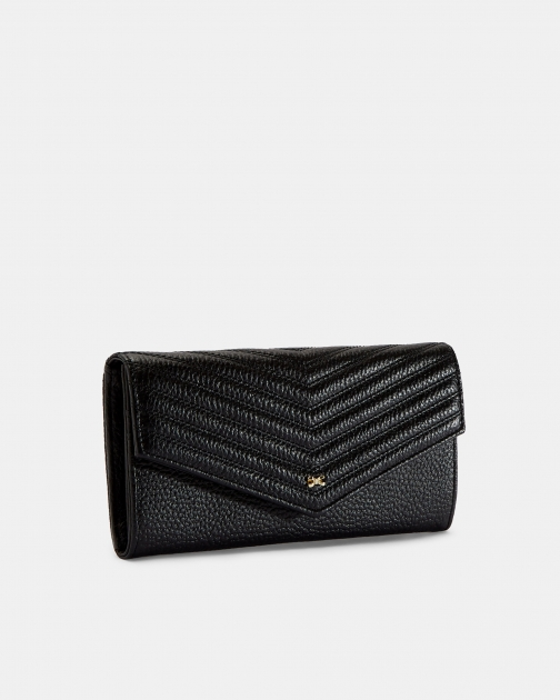 Ted Baker Quilted Leather Envelope Matinee Purse