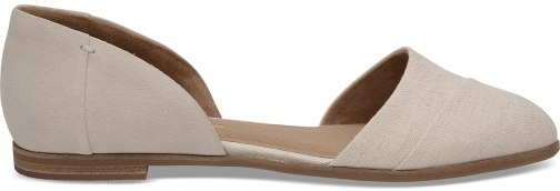 Toms Beige Suede Natural Oxford Women's Jutti D'orsay Shoes Flats