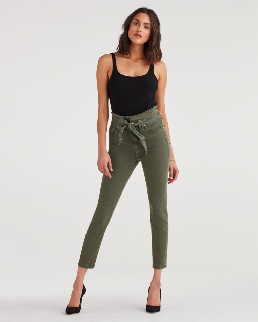 7 For All Mankind Women's Paperbag Jean Army Trouser
