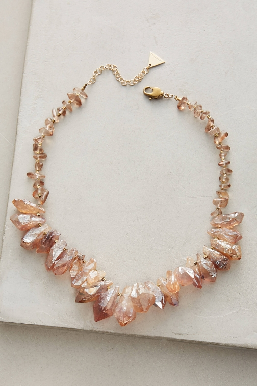 Anthropologie Found Quartz Necklace
