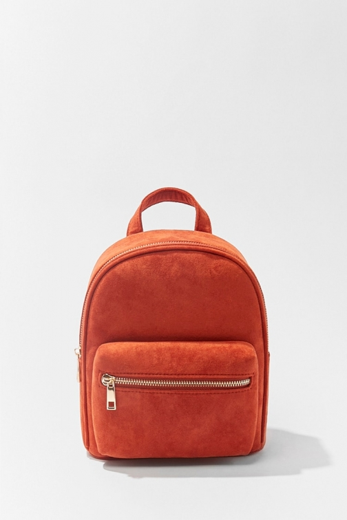Forever21 Forever 21 Faux Suede , Rust Backpack