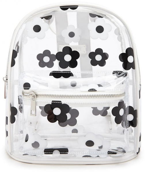 Forever21 Forever 21 Floral Print Clear/multi Backpack