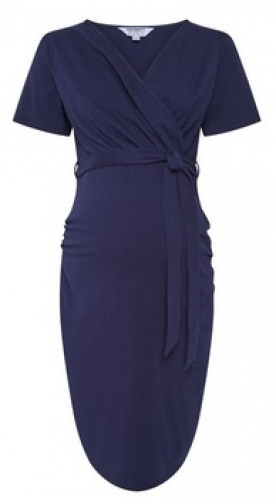 Dorothy Perkins Maternity Navy Ruched Wrap Dress