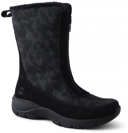 Lands' End Women's All Weather Insulated Winter - Lands' End - Black - 6 Snow Boot