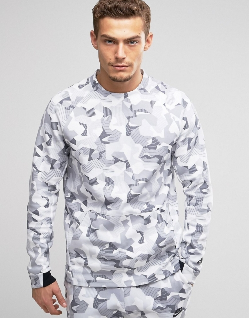 Nike Tech Camo Sweat White 823501-100 Fleece