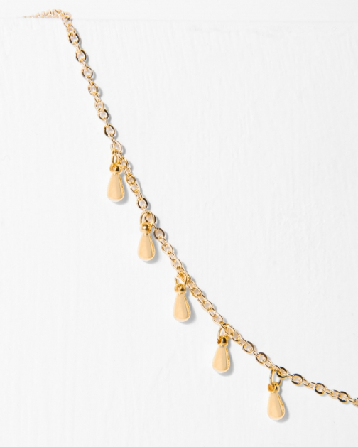 7 For All Mankind Women's Five And Two Willa Gold Necklace