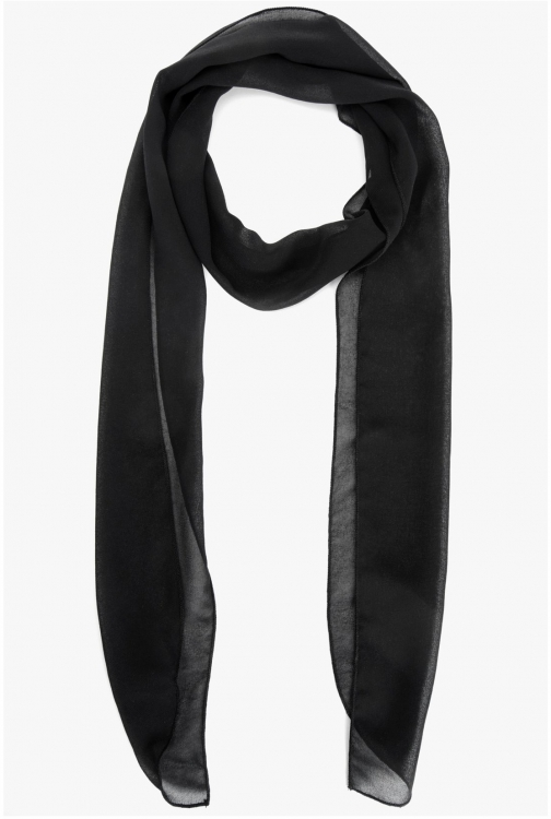 7 For All Mankind Women's Neck Black Scarf