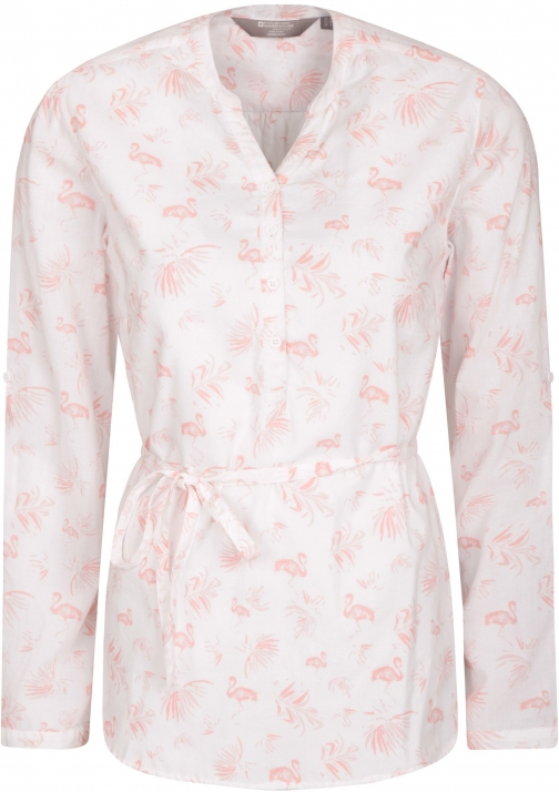 Mountain Warehouse Orlando Printed Long Sleeved Womens - White Shirt