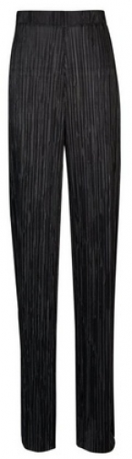 Dorothy Perkins Tall Black Plisse Palazzo Trousers Trouser