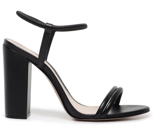 Schutz Shoes Gimenez Sandal - 6 Black Leather Sandals