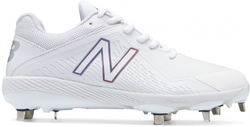 New Balance Low-Cut Fuse1 Metal Cleat Women's Softball - White (SMFUSEW1) Shoes