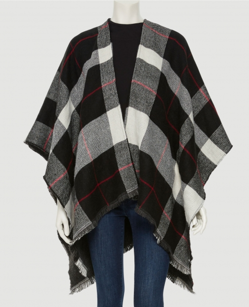 Ann Taylor Factory Checked Wrap Scarf