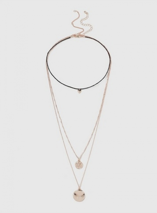 Dorothy Perkins Womens Rose Gold Coin Drop - Rose Gold, Rose Gold Necklace
