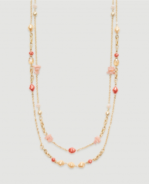 Ann Taylor Factory Beaded Layered Illusion Necklace