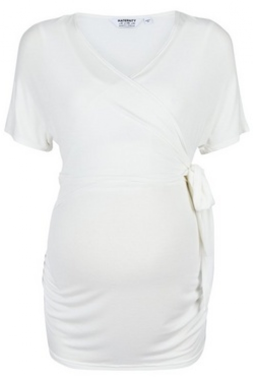 Dorothy Perkins Maternity Ivory Ballet Wrap Top