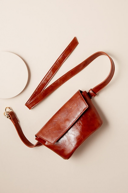 Anthropologie Faux-Leather Hip Bag