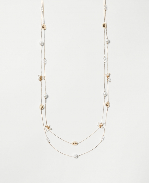 Ann Taylor Factory Glitzy Layered Illusion Necklace