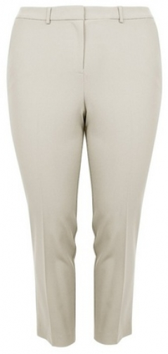 Dorothy Perkins Dp Curve Stone Elastic Back Ankle Grazer Trousers Trouser