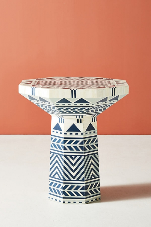 Anthropologie Flagstaff Side Table - Green Accessorie