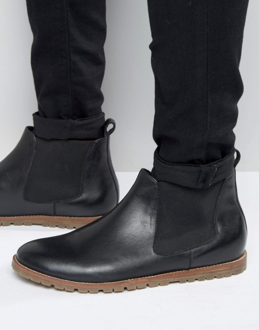 Frank Wright Chelsea Black Leather Boot