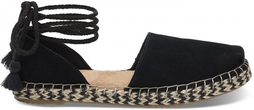 Toms TOMS Black Suede Women's Katalina Espadrilles Shoes - Size UK6.5 / US8.5 Espadrille