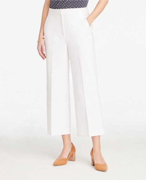 Ann Taylor Wide Leg Crop Pants Trouser