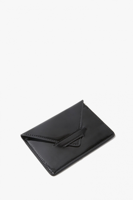 Forever21 Forever 21 Faux Patent Leather , Black Wallet