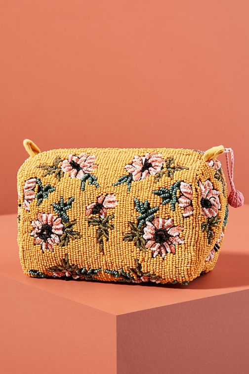 Anthropologie Fayla Beaded Pouch