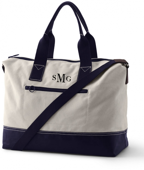 Lands' End Canvas Weekender - Lands' End - Ivory Duffle Bag