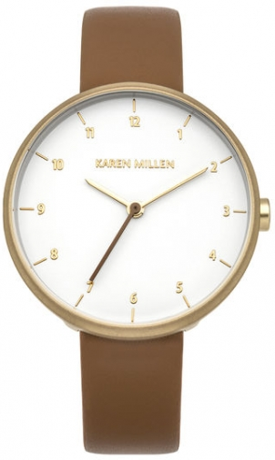 Karen Millen TAN LEATHER STRAP Watch