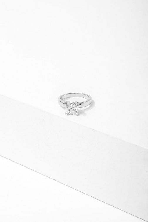 Forever21 Forever 21 CZ Solitaire Cocktail , Silver/clear Ring