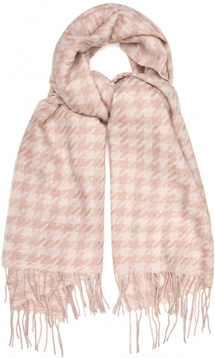 Reiss Rena - Lambswool Blush/white, Womens Scarf