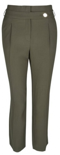 Dorothy Perkins Olive Button Tapered Trouser