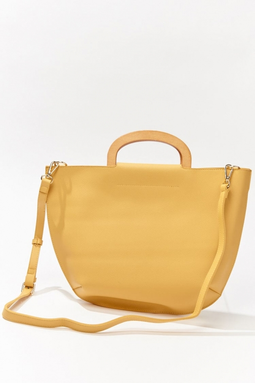 Forever21 Forever 21 Faux Leather Bag , Yellow Tote