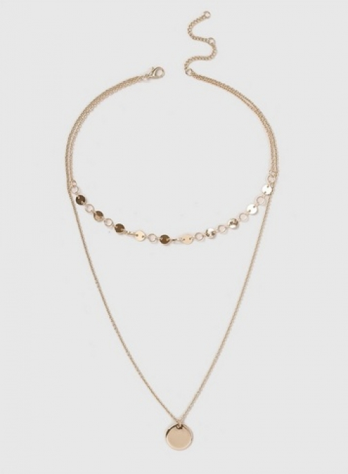 Dorothy Perkins Gold Mini Disc Multi Row Necklace Chokers