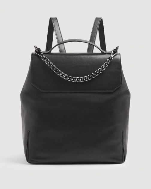 7 For All Mankind Leather Black Backpack