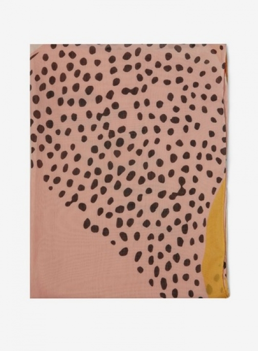 Dorothy Perkins Orange Spot And Animal Print Scarf