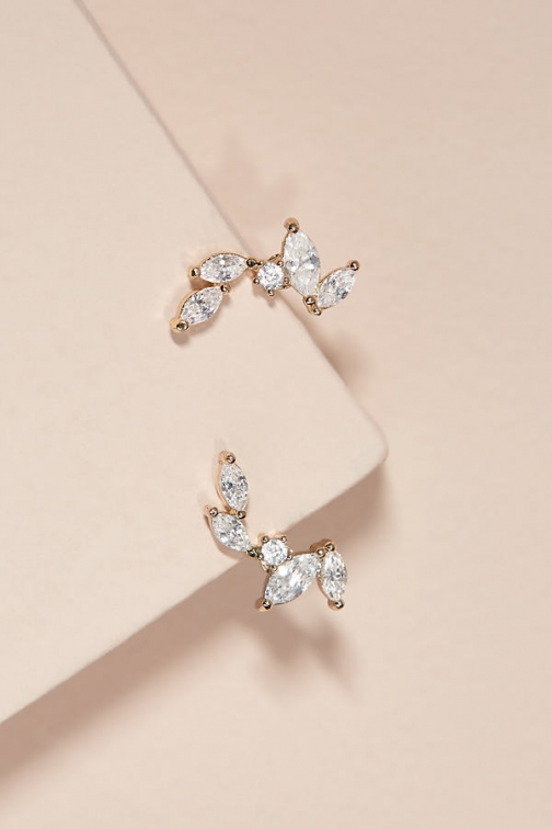 Anthropologie Lexandra Jewelled Climber Earring