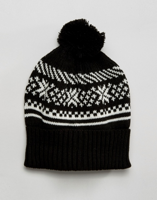 Asos 7X Fairisle Bobble Hat