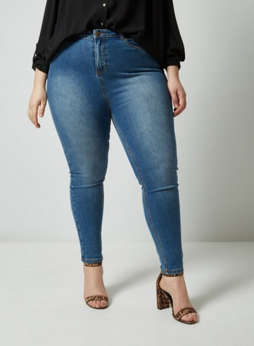 Dorothy Perkins Dp Curve Midwash High Waisted Disco Jeans