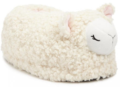 Forever21 Forever 21 Faux Shearling Sheep Cream Slippers