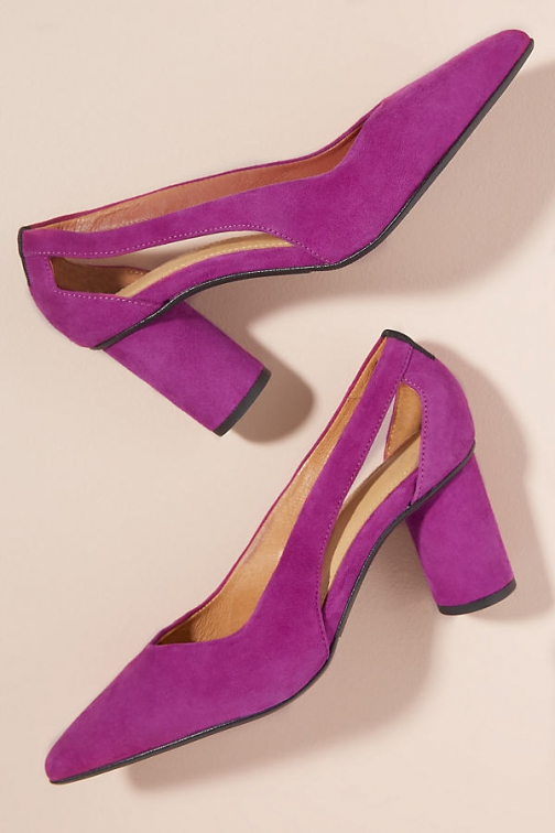 Selected Femme Cut-Out Suede Heels Shoes